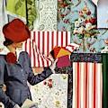 House & Garden Cover Illustration Of A Woman by Joseph B. Platt