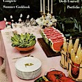 House And Garden Cover Featuring A Buffet Table by Wiliam Grigsby