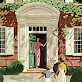 House And Garden Cover by Pierre Brissaud