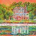 House By The Tidal Creek At Pawleys Island by Kendall Kessler