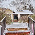 House During Winter Snowfall At Sayen Gardens by Beth Sawickie