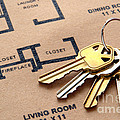 House Keys On Real Estate Housing Floor Plans by Olivier Le Queinec