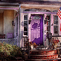 House - Porch - Cranford Nj - Lovely In Lavender  by Mike Savad