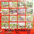 House Rendering Card by Lizi Beard-Ward