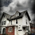 House With Brick Front - American Gothic by Miriam Danar