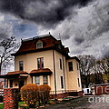 House With Storm Approaching by Miriam Danar