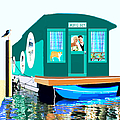 Houseboat by Marian Cates