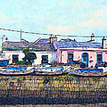 Houses And Boats On Howth by Miki De Goodaboom