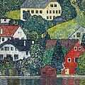 Houses At Unterach On The Attersee by Gustav Klimt
