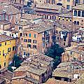 Houses Of Old City Of Siena - Tuscany - Italy - Europe by Stephan Pietzko