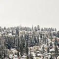 Houses On The Mountain In Winter by Jit Lim