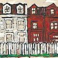 Houses On William Street by David Dossett