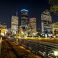 Houston Across The Bayou by David Morefield