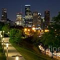 Houston At Night by Bill Cobb