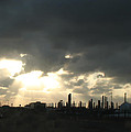 Houston Refinery At Dusk by Connie Fox