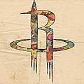 Houston Rockets Logo Art by Florian Rodarte