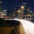 Houston Skyline At Dusk by Bill Cobb