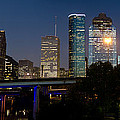 Houston Skyline At Night by James Gamble