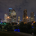 Houston Skyline At Night by Todd Aaron