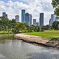 Houston Skyline On The Bayou by Tod and Cynthia Grubbs