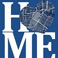 Houston Street Map Home Heart - Houston Texas Road Map In A Hear by Jurq Studio