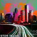 Houston Texas Skyline  by Marvin Blaine