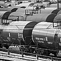 How Sweet It Is - Tank Cars - Black And White by Bill Swartwout Fine Art Photography