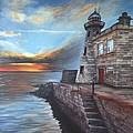 Howth Harbour Lighthouse by Dominika Stec