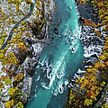 Hraunfossar, Waterfall, Iceland by Arctic-images