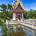 Hua Hin Temple Pond by Sophie McAulay