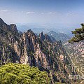 Huangshan Mountain Chinese Famous Landscape by Fototrav Print