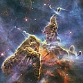 Hubble's Fantasy Mountaintops  by Barry Jones