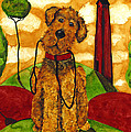 Hubbs Art Folk Prints Whimsical Animals Dog Pet Walk Italy Tuscany Country by Debi Hubbs