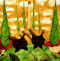 Hubbs Children Art Folk Prints Whimsical Farm Animals Dog Hen Chicken Chase by Debi Hubbs