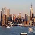Hudson River And Manhattan Skyline I by Clarence Holmes