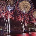 Hudson River Fireworks Viii by Clarence Holmes