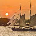 Hudson River Tall Ship In Manhattan New York - New York by Maria isabel Villamonte