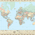 Huge Hi Res Mercator Projection Political World Map   by Serge Averbukh