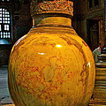 Huge Marble Jar Cut From One Piece Of Marble In Saint Sophia's I by Ruth Hager
