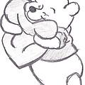 Huggable Pooh Bear by Melissa Vijay Bharwani
