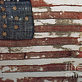 Hulbert Flag Early Us Flag 1776 by Photo Researchers