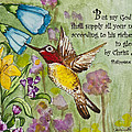 Humming Bird- Philipians by Janis Lee Colon