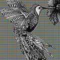 Hummingbird Flight 21 by Karen Larter