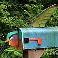 Hummingbird Mailbox by Art Block Collections