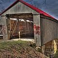 Artistic Humpback Covered Bridge by Jack R Perry