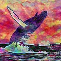 Humpback Whale Digital Color by Barbara Griffin