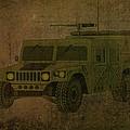 Humvee Midnight Desert  by Movie Poster Prints