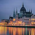 Hungarian Parliament Dawn by Joan Carroll