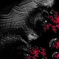 Hunger - Dark And Blood Red Fractal Art by Matthias Hauser