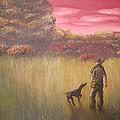Hunter And Pointer by Jeffrey Oleniacz